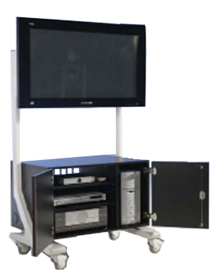 medienwagen f r flachbildschirme flachbildschirmwagen tv. Black Bedroom Furniture Sets. Home Design Ideas
