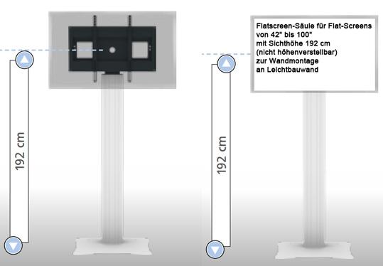 flatscreenhalterung flatscreenhalterung zur wandmontage bildschirmhalterung f r 84 zoll. Black Bedroom Furniture Sets. Home Design Ideas
