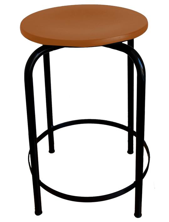 hocker sitzh he 55 cm mit fu st tze hocker stahlrohrhocker vierbeinhocker werkraumhocker. Black Bedroom Furniture Sets. Home Design Ideas