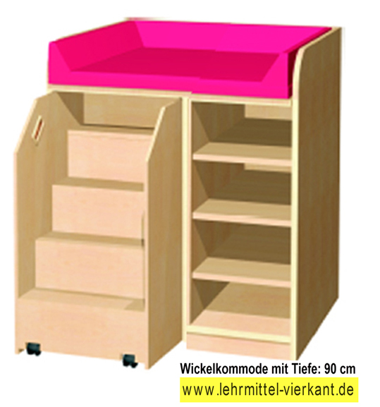 wickelkommoden mit treppe wickelkommodetiefe 90 cm f r kindergarten wickelkommode kaufen. Black Bedroom Furniture Sets. Home Design Ideas